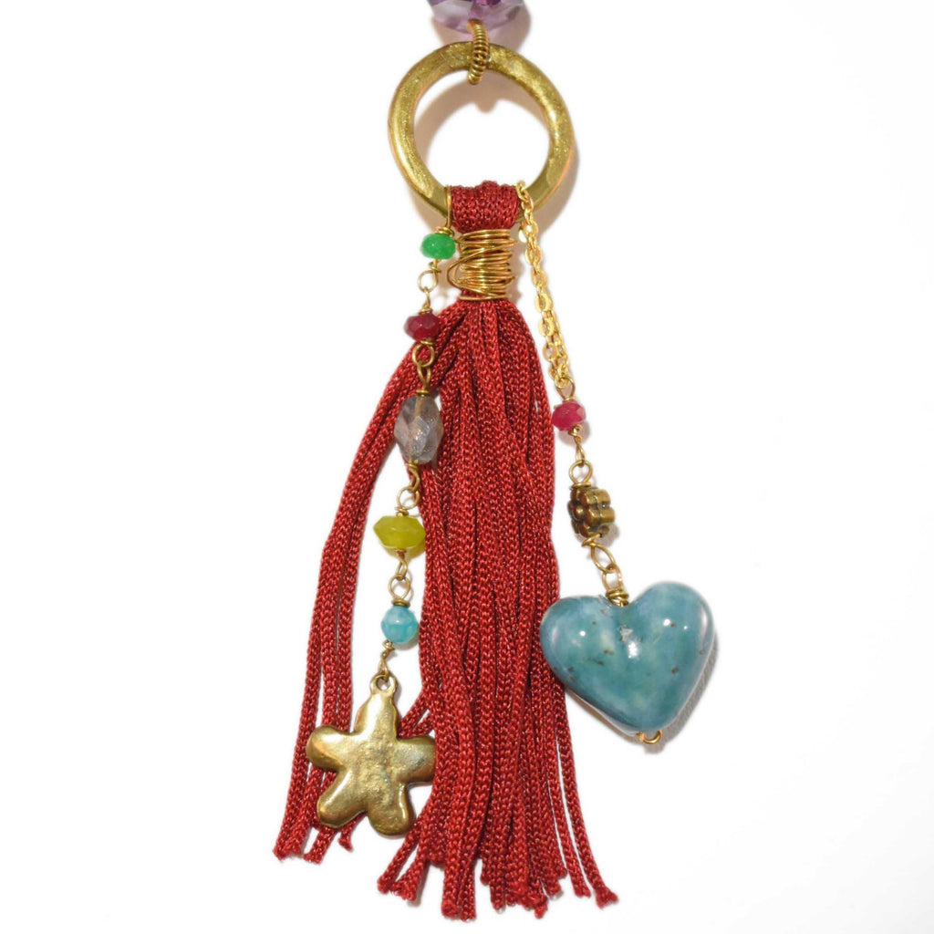 Mexico | De Colores Tassel Necklace-necklace-N.I.Kouture