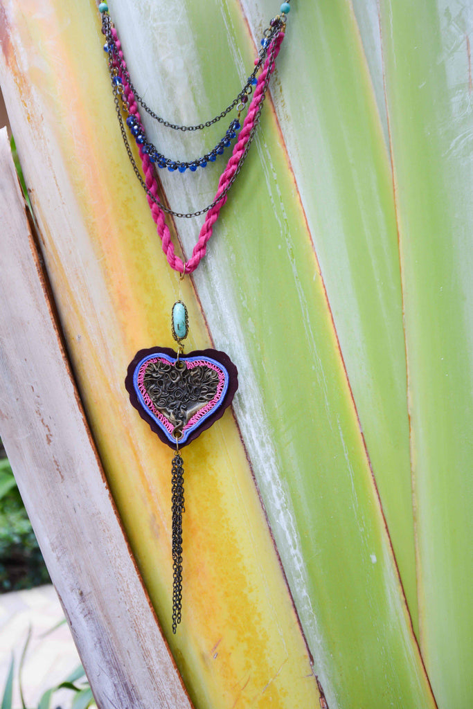 Mexico | Locura Heart Necklace-necklace-N.I.Kouture