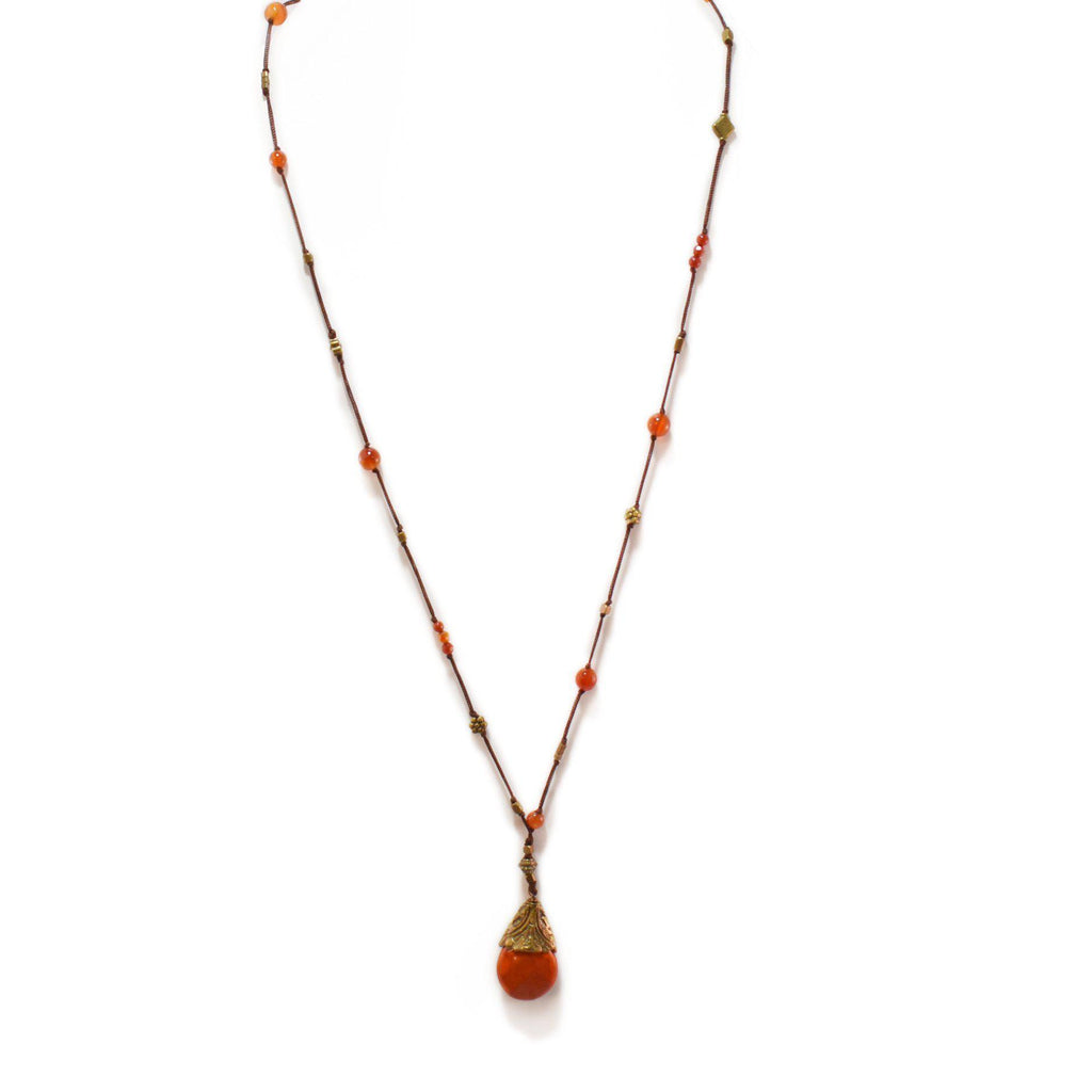Mexico | Naranja Stone Necklace-necklace-N.I.Kouture