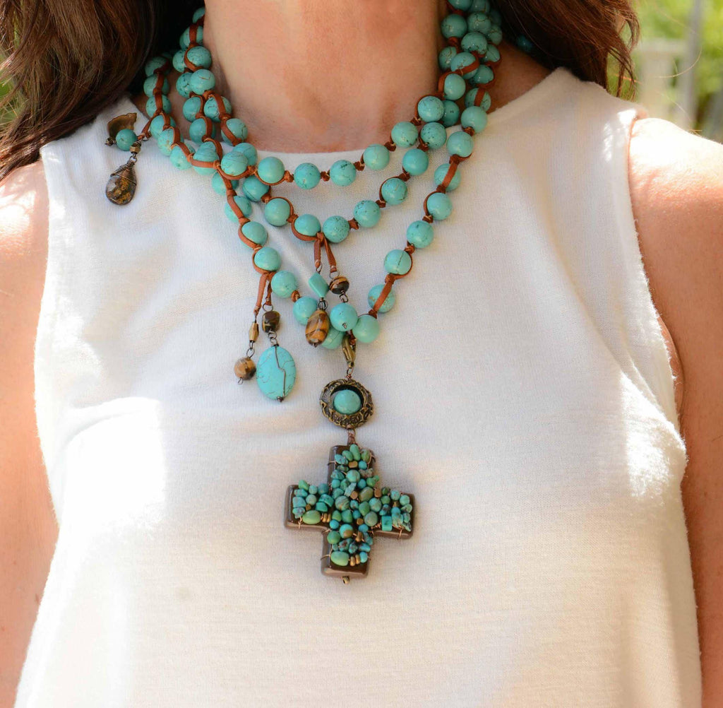 Mexico | Turquoise Lèon Cruzar Necklace-necklace-N.I.Kouture