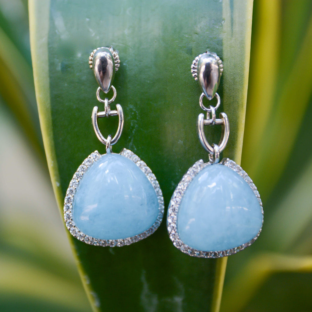 Spain | Blue Cadiz Sky Earrings-earrings-N.I.Kouture