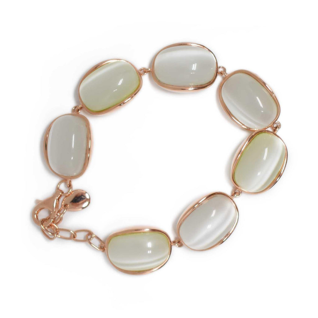 Spain | Champagne Cat Eye Bracelet-bracelet-N.I.Kouture