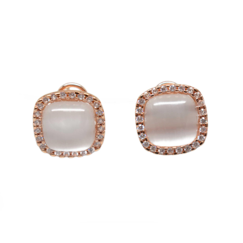 Spain | Champagne Cat Eye Earrings-earrings-N.I.Kouture