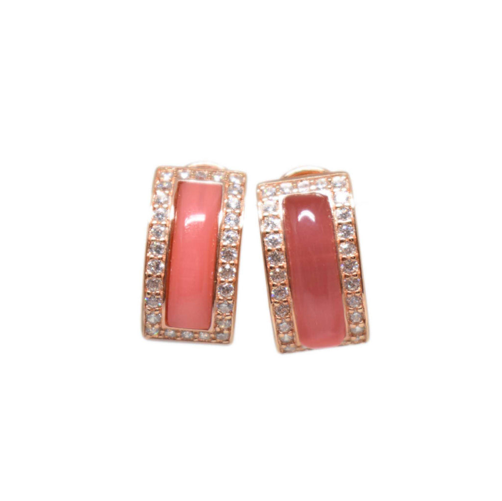 Spain | Red Cat Eye Earrings-earrings-N.I.Kouture