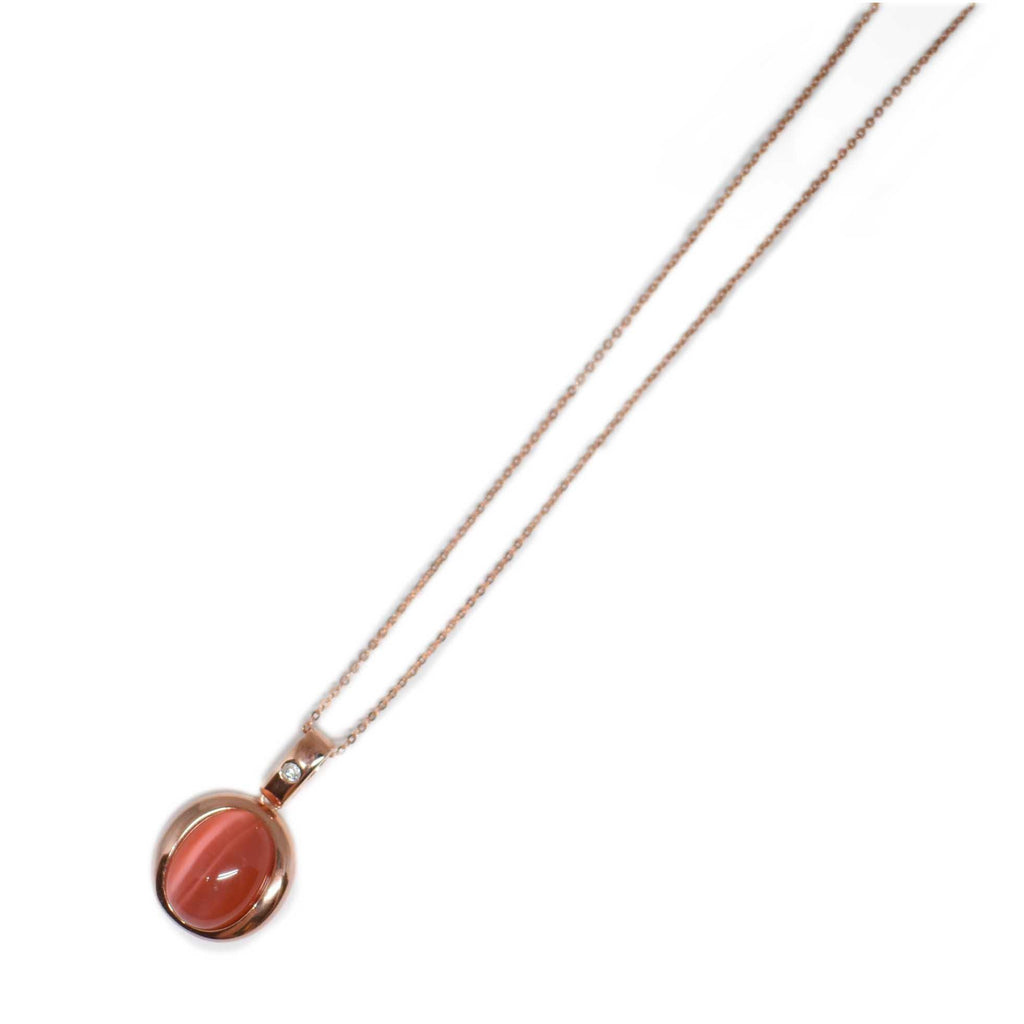 Spain | Red Cat Eye Necklace-necklace-N.I.Kouture