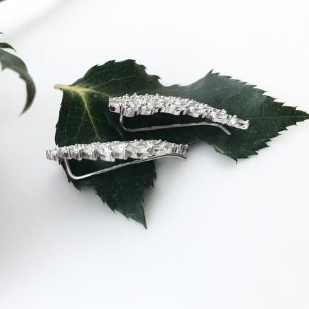 Thailand | Leaf Brilliance Earrings-earrings-N.I.Kouture