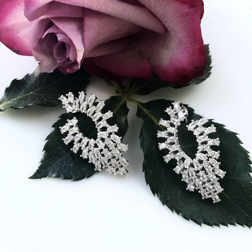 Thailand | Oval Brilliance Earrings-earrings-N.I.Kouture
