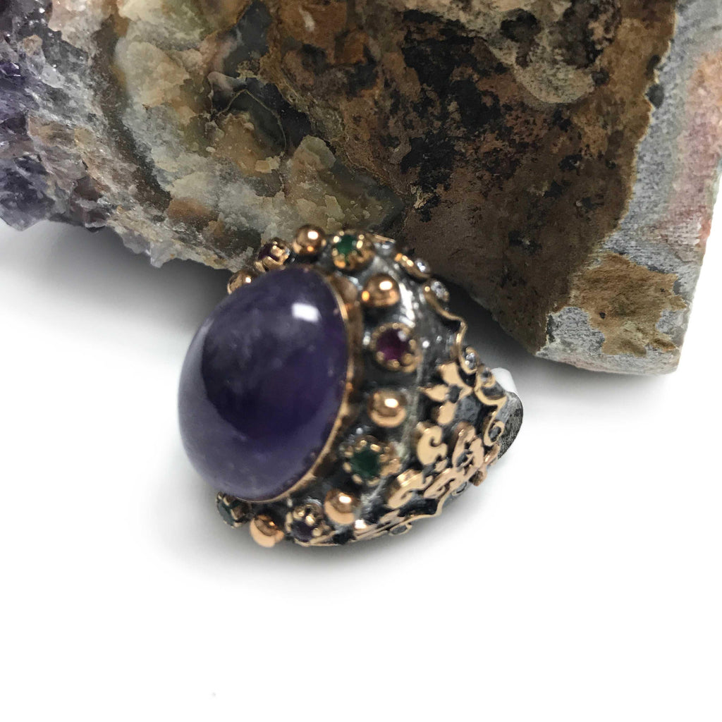 USA | Amethyst Ring-Ring-7-N.I.Kouture