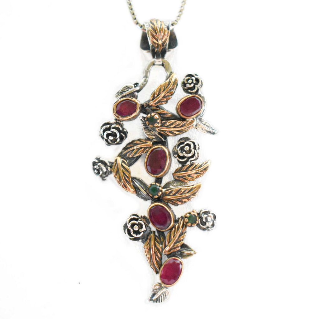 USA | Ruby Necklace-necklace-N.I.Kouture