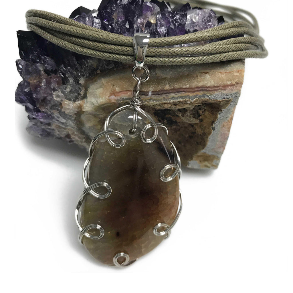 USA | Wave Agate Necklace-necklace-N.I.Kouture