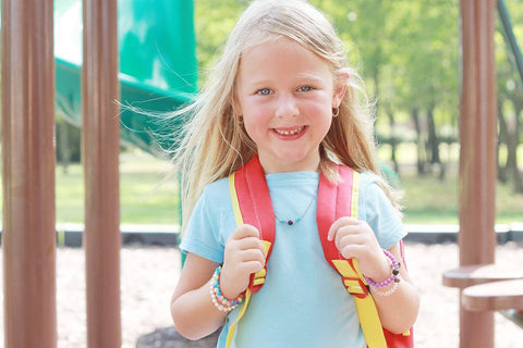 "Kid's Rainbow & Lava Aroma Necklace 16"" - Aroma Couture™"