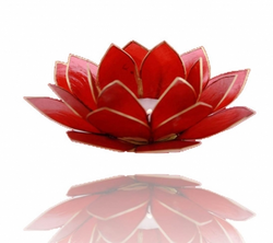 Chakra Lotus Flower Tea Light Holder - Capiz Shell - 1st Chakra