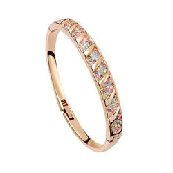 Crystal NEW Pave Bangle - Gold Plate - FREE Shipping