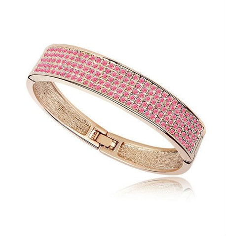 Crystal Pave Bangle - Gold Plate - FREE Shipping