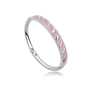 Crystal NEW Pave Bangle - Platinum Plate - FREE Shipping