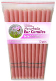 Ear Candles GERANIUM Pack 10 - 5 Pairs - Tension and Unease - Organic