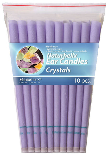 Ear Candles CRYSTALS Pack 10 - 5 Pairs - Detox Blend - Organic