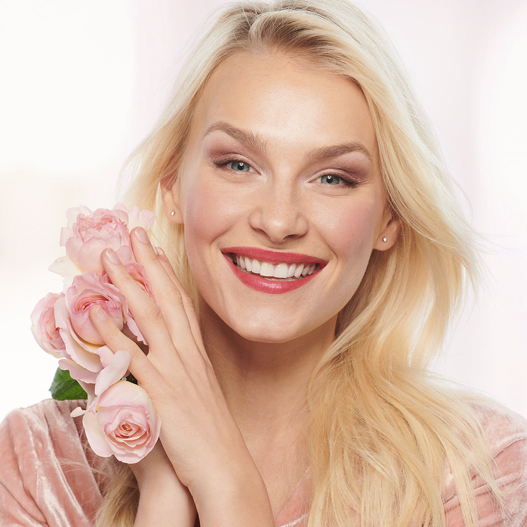 jane iredale Valentine's Day Model
