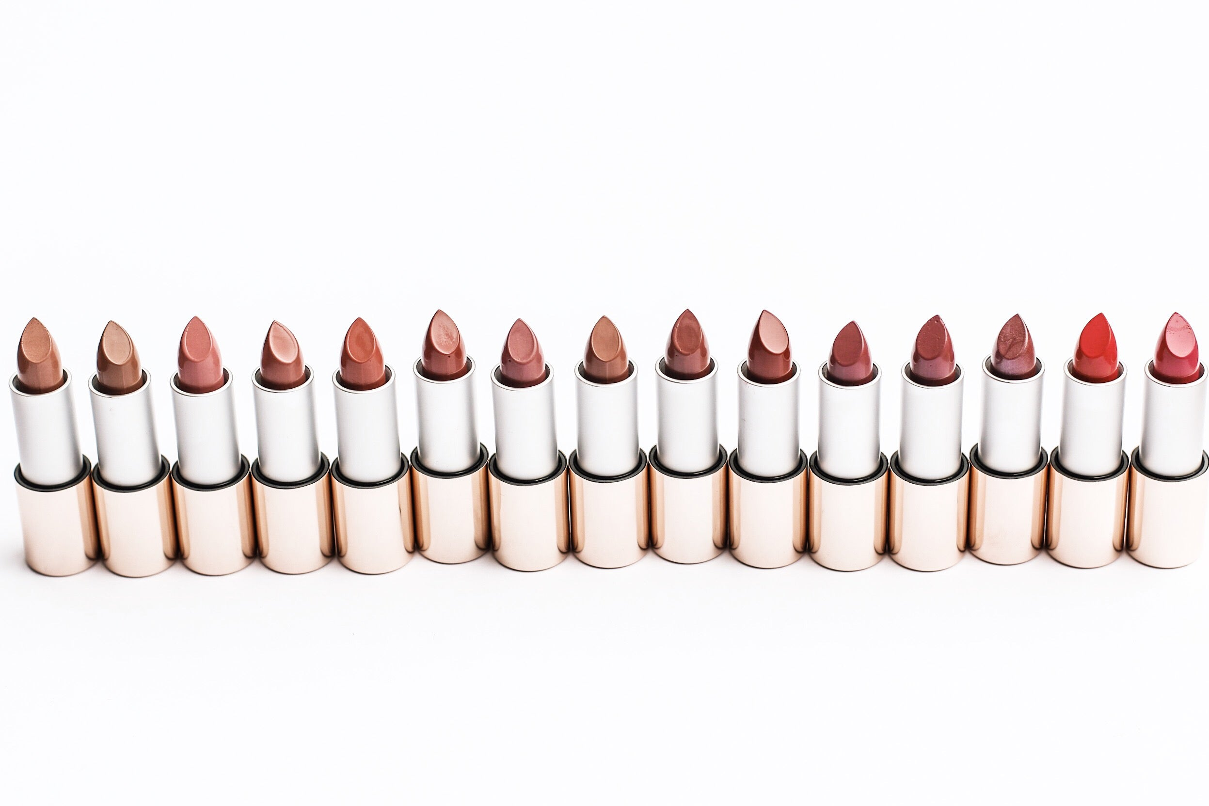 Triple Luxe Lipsticks lined up