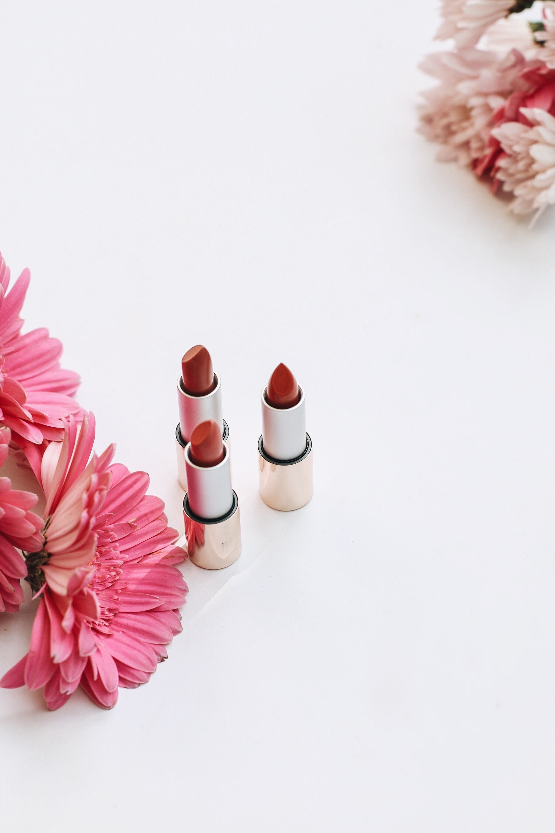 Triple Luxe Lipsticks in pink shades