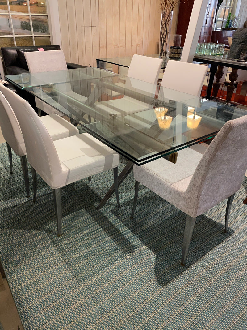 Desalto 'Tender 420' Glass Dining Table