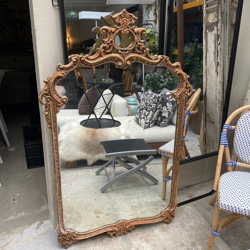 Antique French Rococo Mirror
