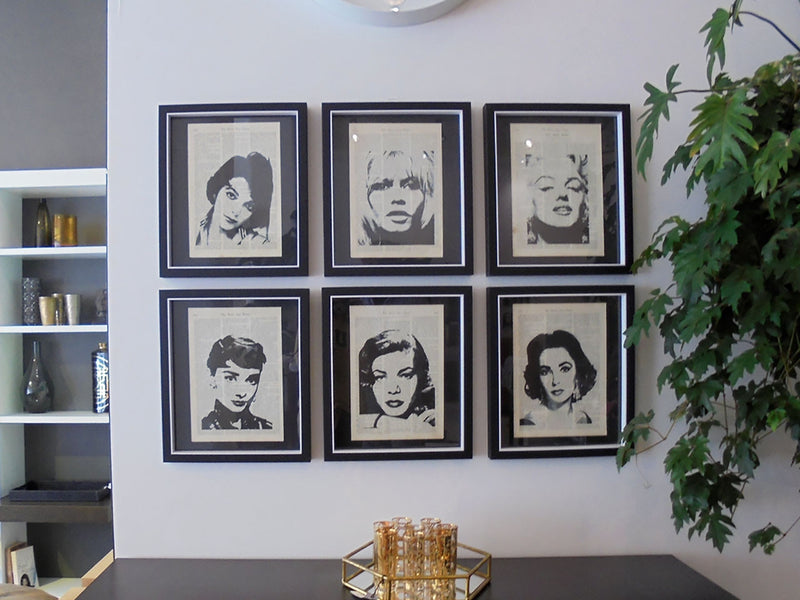 60s Icons and 80s Super Models Framed Prints