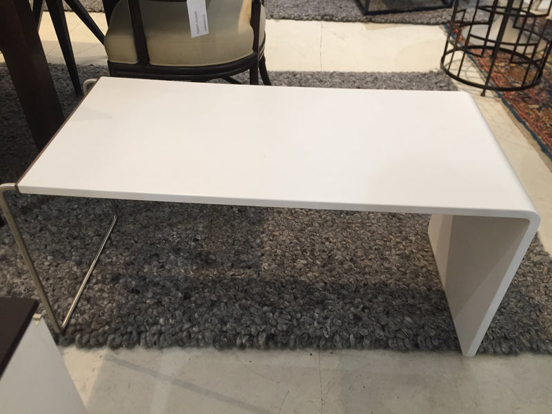 White and Chrome Side/Sofa Table