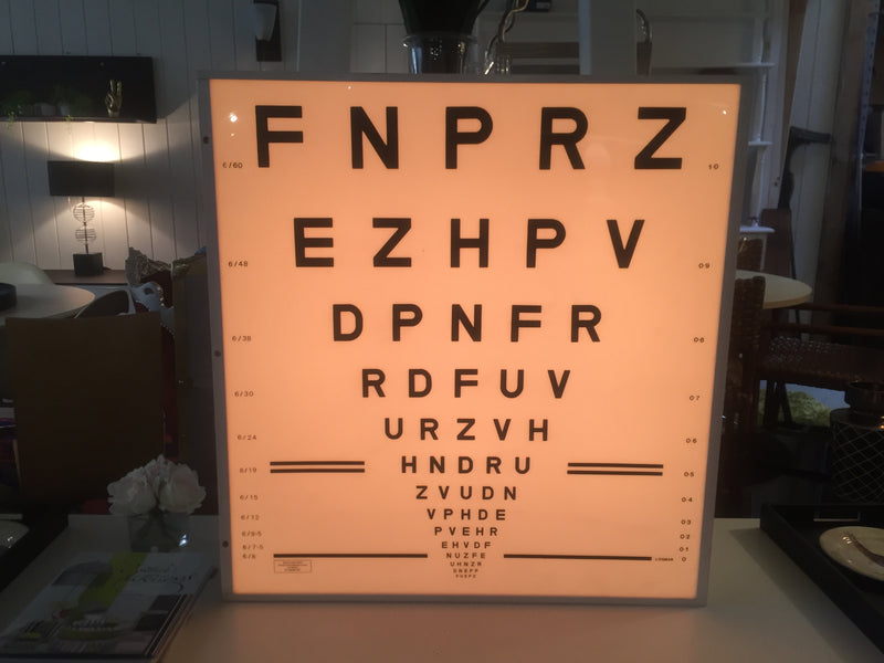 Original Optometrist Light Box