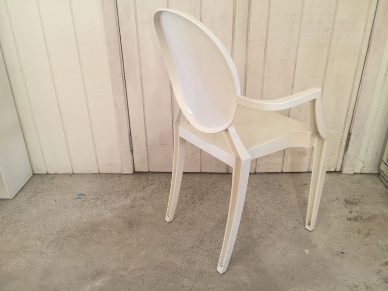 Kartell White Louis Ghost Chair