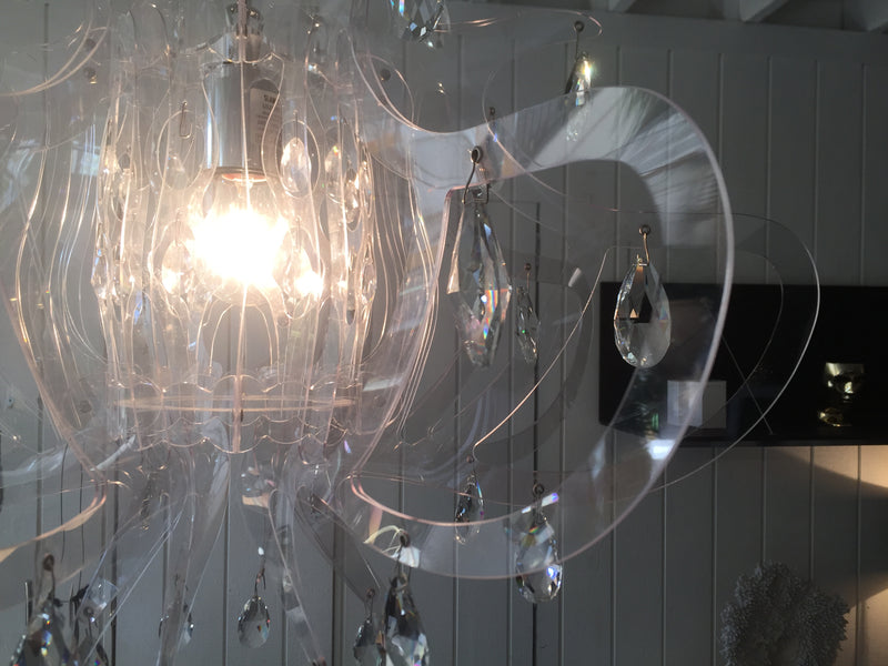 Lillibet Transparent PND Chandelier by Slamp Italy