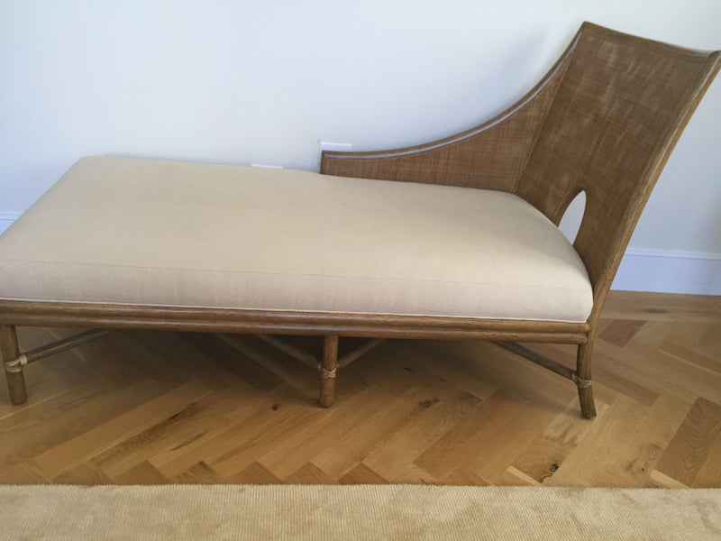 Barbara Barry Caned Chaise for McGuire
