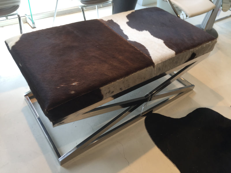 Timothy Oulton Cowhide Ottoman for Halo