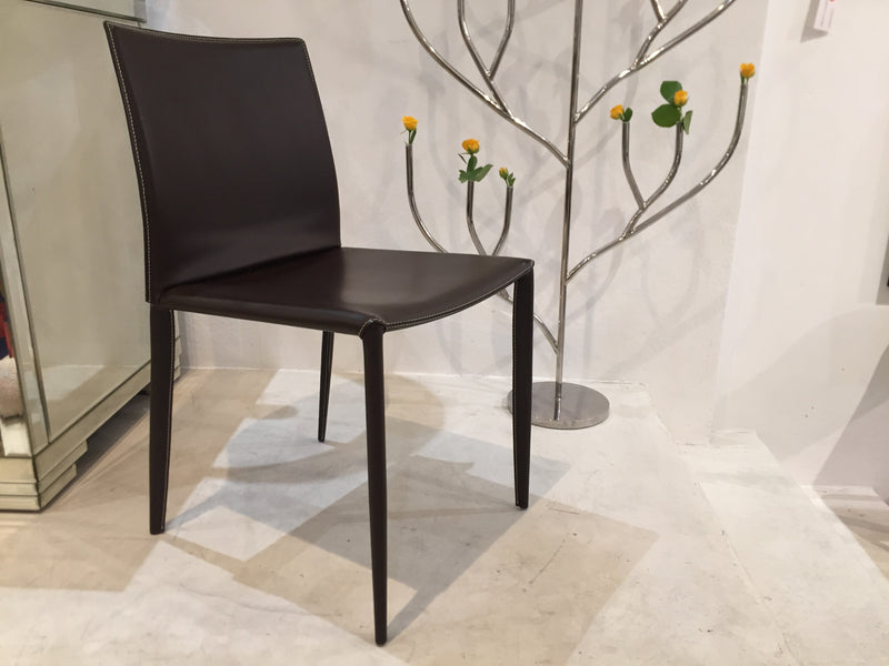 Enrico Pellizzoni 'Pasqualina' Leather Dining Chair
