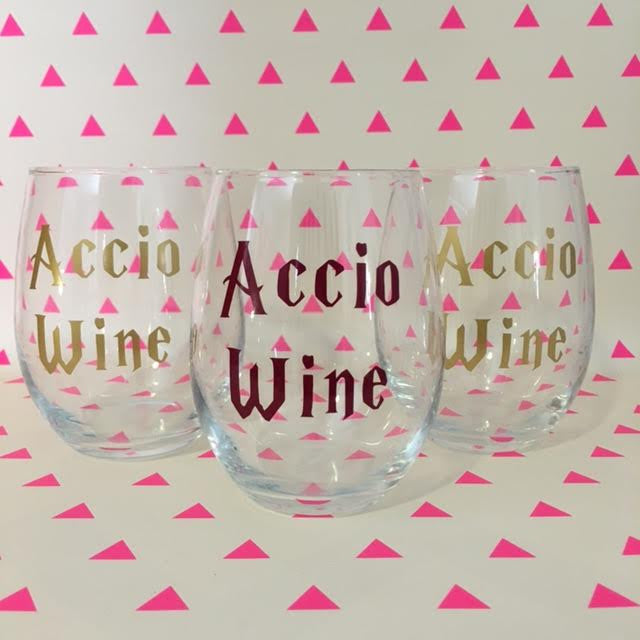 Accio Wine Harry Potter Wine Glass