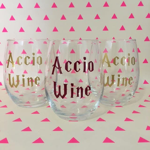 Accio Wine Harry Potter Wine Glass - Henry & Penny Treats