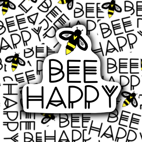 Bee Happy Sticker - Free Shipping - Henry & Penny Treats