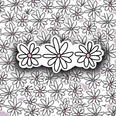 Daisies Sticker - Free Shipping - Henry & Penny Treats