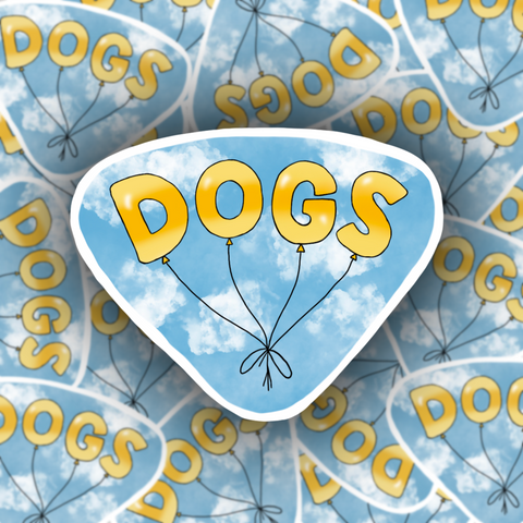 DOGS Balloon Sticker - Free Shipping