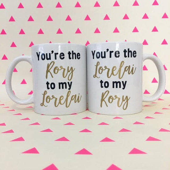 Two Gilmore Girls Mugs! Rory and Lorelai Coffee Mugs