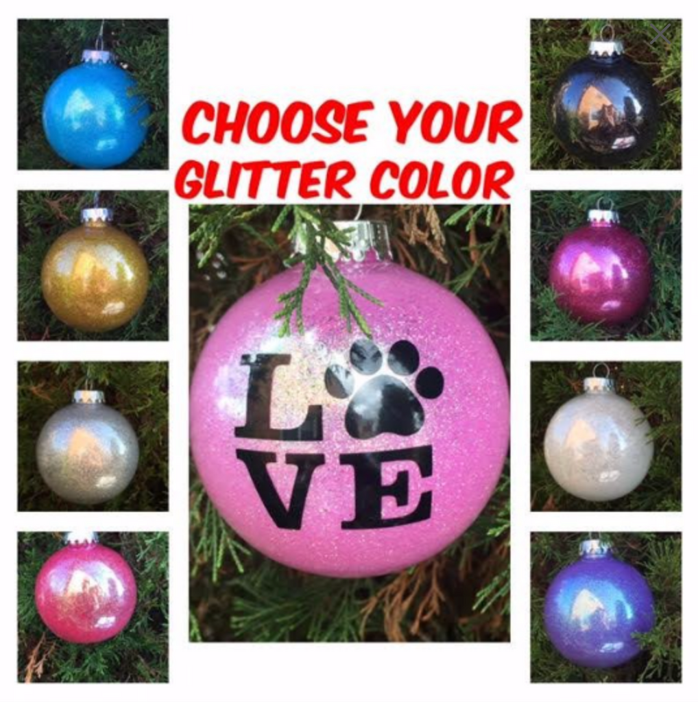 Glitter Christmas Ornament