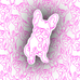 French Bulldog Outline Sticker - Free Shipping