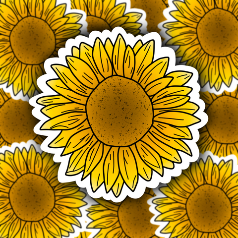 Sunflower Sticker - Free Shipping