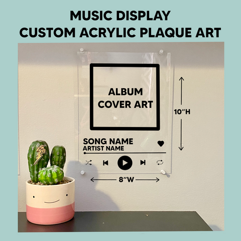 Custom Acrylic Music Display Wall Art Album Plaque 8x10 - Henry & Penny Treats