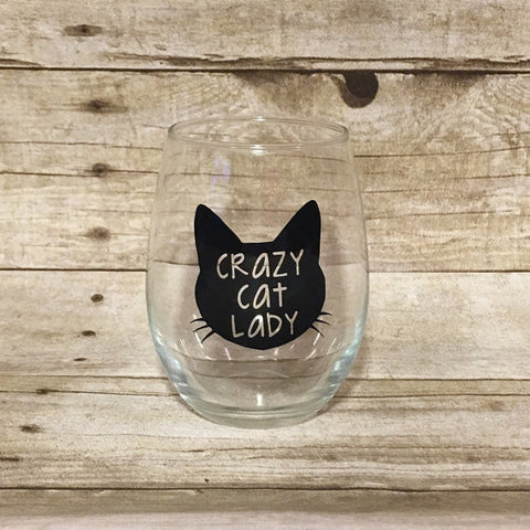Crazy Cat Lady Wine Glass - Henry & Penny Treats