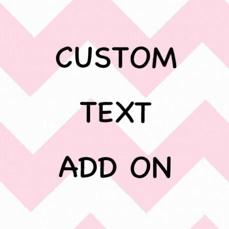 Custom Text Add On