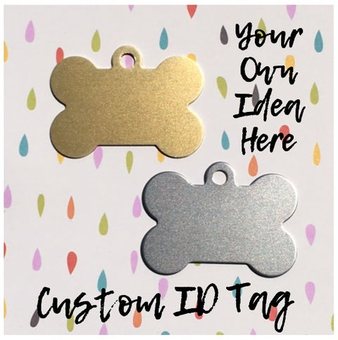 Custom Handstamped Bone Dog ID Tag