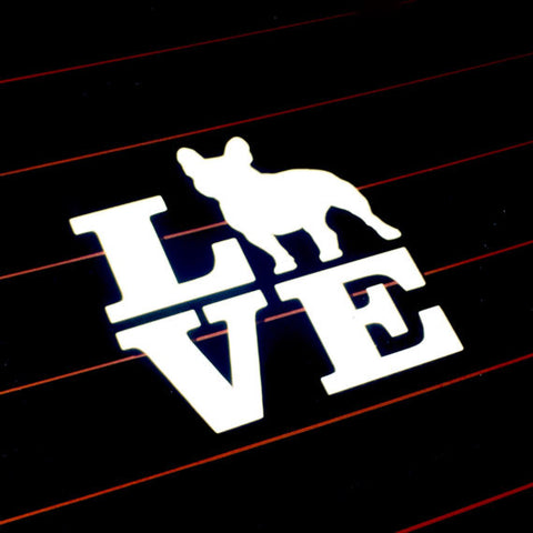 French Bulldog Love Decal