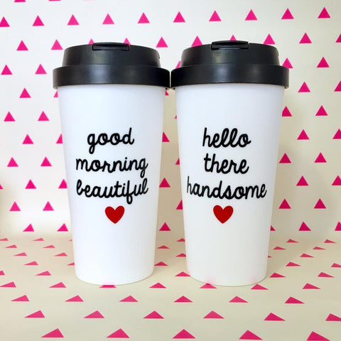 Set of Two Travel Mugs.