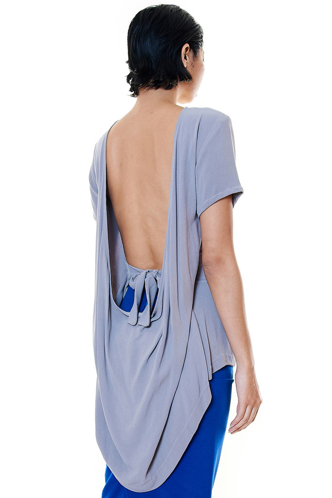Low Back Drape Top